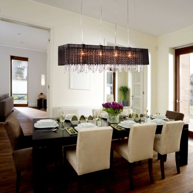 modern crystal chandelier ceiling lamp pendant light fixture dining room - Dining Room Crystal Chandeliers