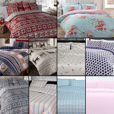 Thermo-Bettwäscheset - Bettdeckenbezug und Kissenbezug - Biber - 100 % Baumwolle ()
