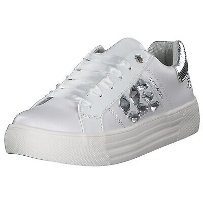 Dockers Damen Sneakers Turnschuhe Freizeitschuhe 42bm218-610500 Weiß White Neu