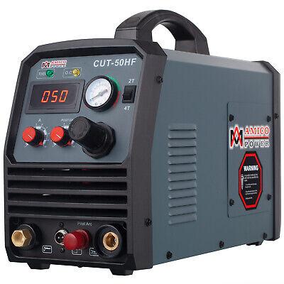 Amico Cut-50hf 50 Amp Non-touch Pilot Arc Plasma Cutter Pro. 100250v Voltage