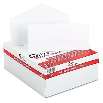 Office Impressions - White Envelopes 10 Gummed - 500 Count