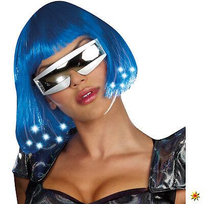 Space Brille Kostüm Zubehör weiß Einheitsgröße Alien Weltraum (Raum Alien Kostüm)