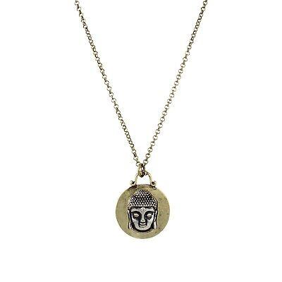 NEW Buddha Head Crystal Urna Inspirational Yoga Meditation Om Pendant Necklace