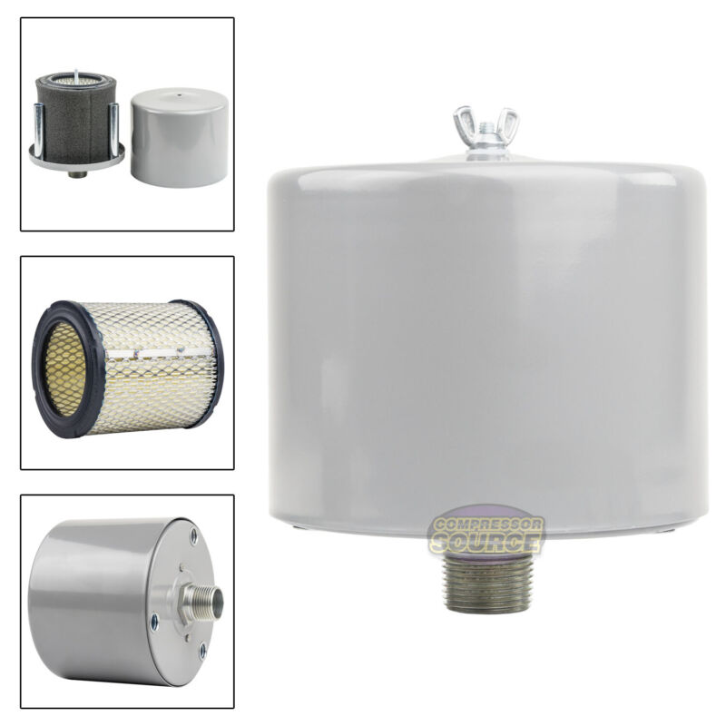 """1"""" Air Compressor Intake Filter Silencer Metal Canister Housing One Inch New"""
