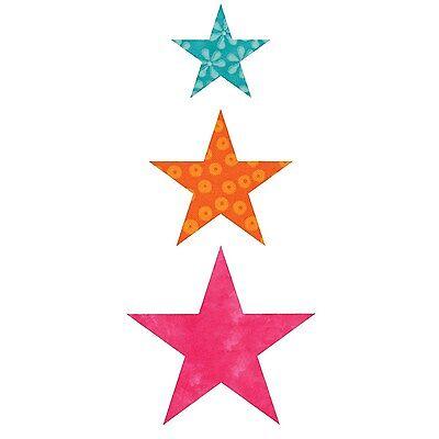 """AccuQuilt GO! Fabric Cutter Die Star-2"""", 3"""", 4""""  55028"""