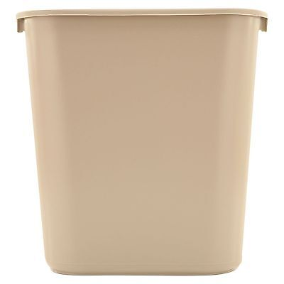 Rubbermaid Beige Soft Molded 7 gallon Plastic Trash Wastebasket Garbage Can