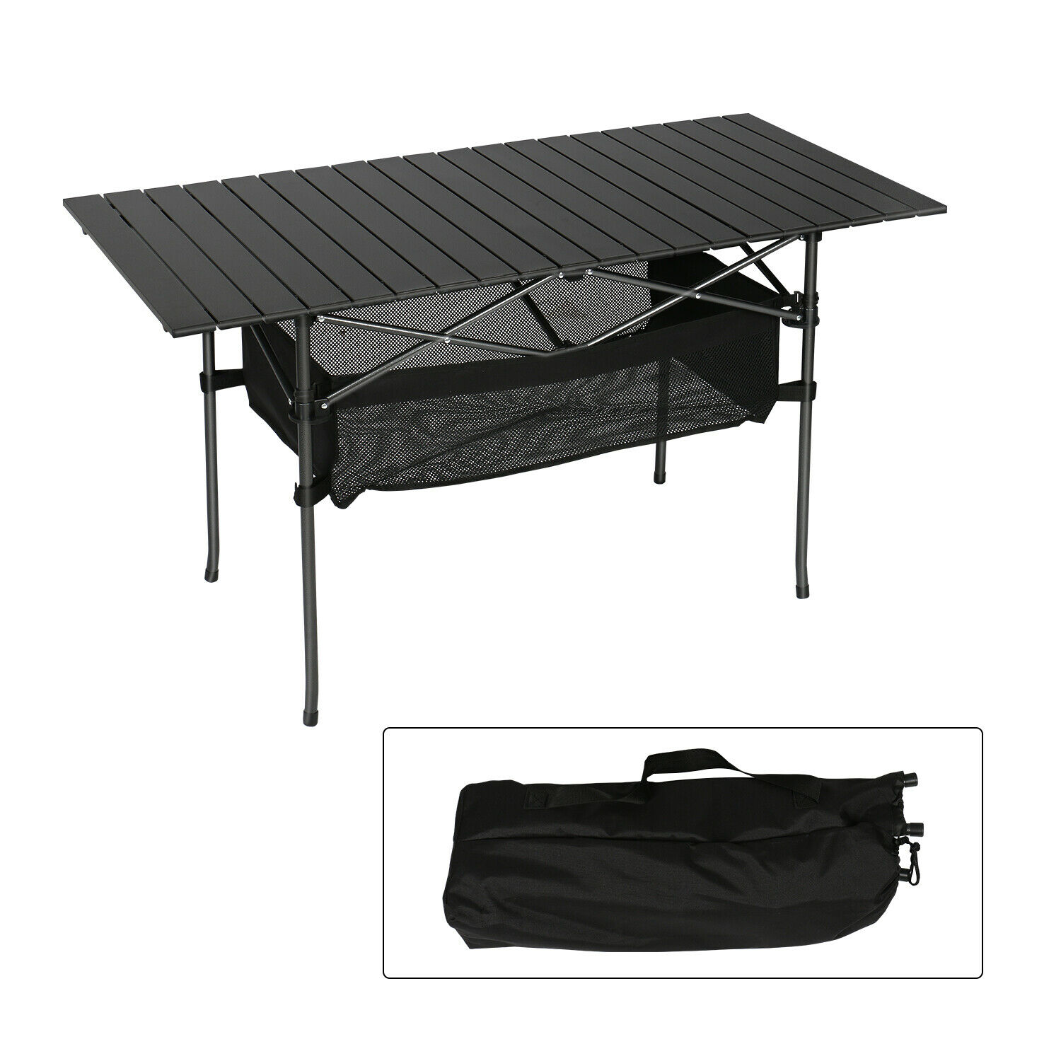 Portable Camping AluminumTable Inch Folding Aluminum Roll Up Backpacking Outdoor