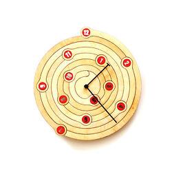 Spiral - 11½ unique modern wall clock, birch plywood, non ticking, ardeola