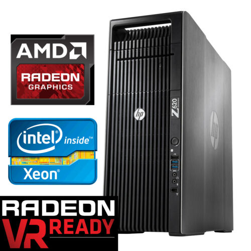 Hp Z620 4k Gaming Computer 8 Cores 3.8ghz Radeon Rx 5700 16gb Ram 256gb Ssd