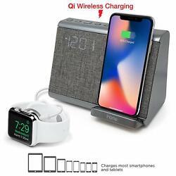 iHome iBTW39 Bluetooth Dual Alarm Clock Wireless Charging Speakerphone