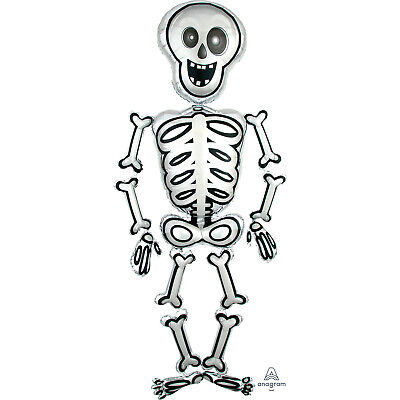 Groß Lebensgröße Mr Skelly Skelett Air Walker Ballon 193cm Hoch Halloween Party