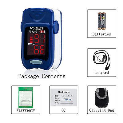 Finger Oximeter - Pulse Oximeter Finger Tip Pulse Blood Oxygen SpO2 Monitor FDA Approved US seller