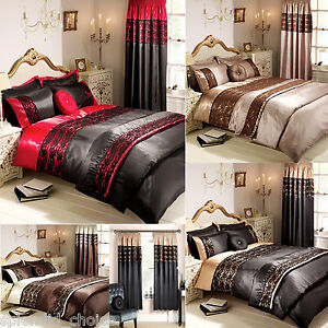 luxe lacet boutique housse de couette taie oreiller ensemble literie rideaux ebay. Black Bedroom Furniture Sets. Home Design Ideas