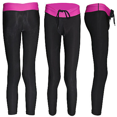 huge discount a3723 593af WOMEN YOGA PANTS CLOTHING WORKOUT GYM TIGHTS JOGGING 3 4 SIZE S M L XL