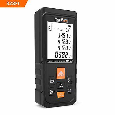 Tacklife S3-100 Pro Laser Measure 328ft Laser Distance Meter With 2.25 Large Ba