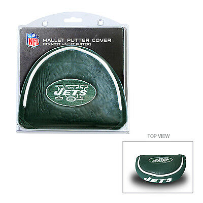 NFL New York Jets NY Mallet Putter Cover Golf Headcover Course Club Bag  ()