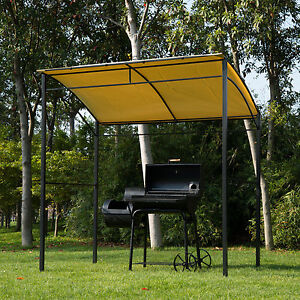 Harrogate Metal Wall Gazebo Marquee Garden Patio BBQ Grill Canopy Awning Shelter
