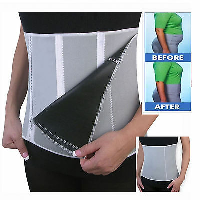 Adjustable Waist Trimmer Wrap Belt Slimming Fat Sweat Weight Loss Body Shaper