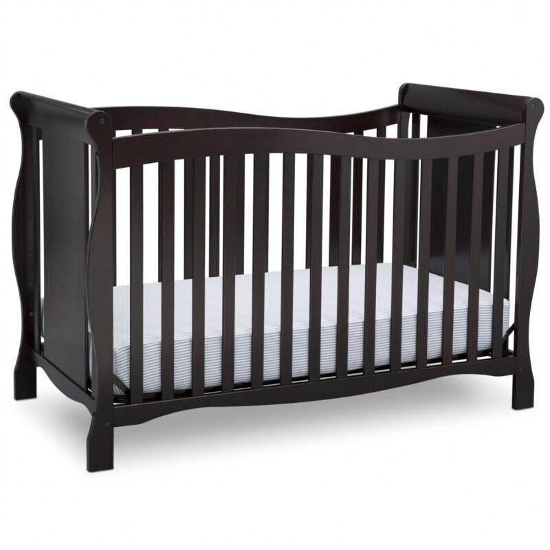 Convertible Baby Infant Crib 4-in-1 Toddler Newborn Children Kids Bed Wood New