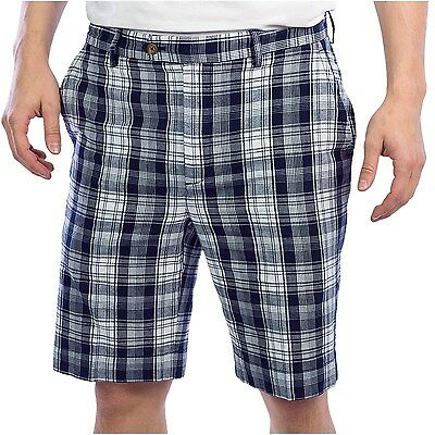 Madras Flat Front Short (NEW Men's Fairway & Greene black & white