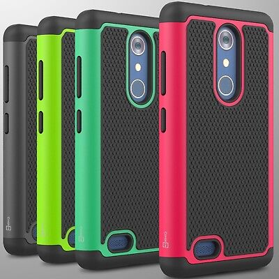 For ZTE ZMax Pro / Carry Case Tough Protective Hard Hybrid Phone Cover