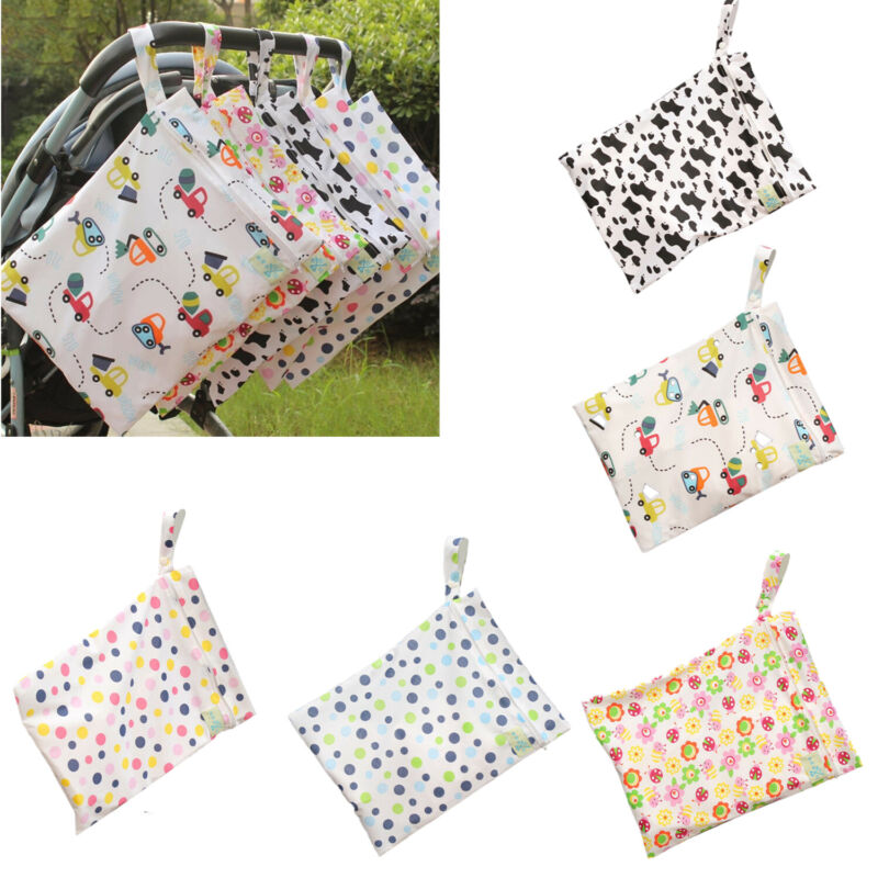 Infant Waterproof Zip Wet Dry Bag Baby Cloth Diaper Nappy Pouch Reusable Vogue