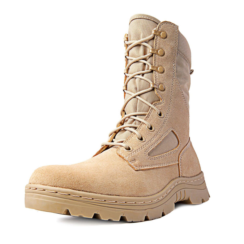 "Ridge Footwear 8"" Men's Dura-Max Side Zipper Sand Tactical Military Boots 1"