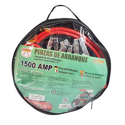 Cables de Arranque de Emergencia para Coche Camiones 12V/24V 1500A Ø30mm MOLCAR
