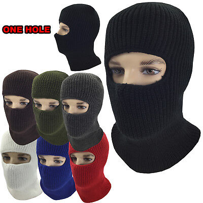 Ninja Clothing (Winter Face Mask Warm Cold Weather One Hole Facemask Black Ski Snow Masks)