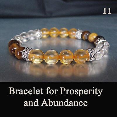 Abundance Gift - Gemstone Bracelet for Monetary Prosperity & Abundance Chakra Healing Energy Gift