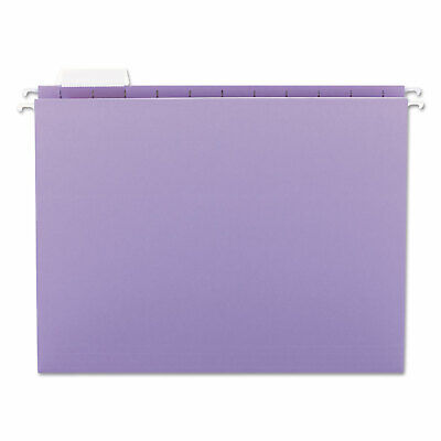 Smead Hanging File Folders 15 Tab 11 Point Stock Letter Lavender 25box 64064