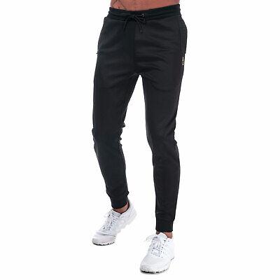 Mens Luke 1977 Trico Tracksuit Trouser Polyester Blend Joggers In Black