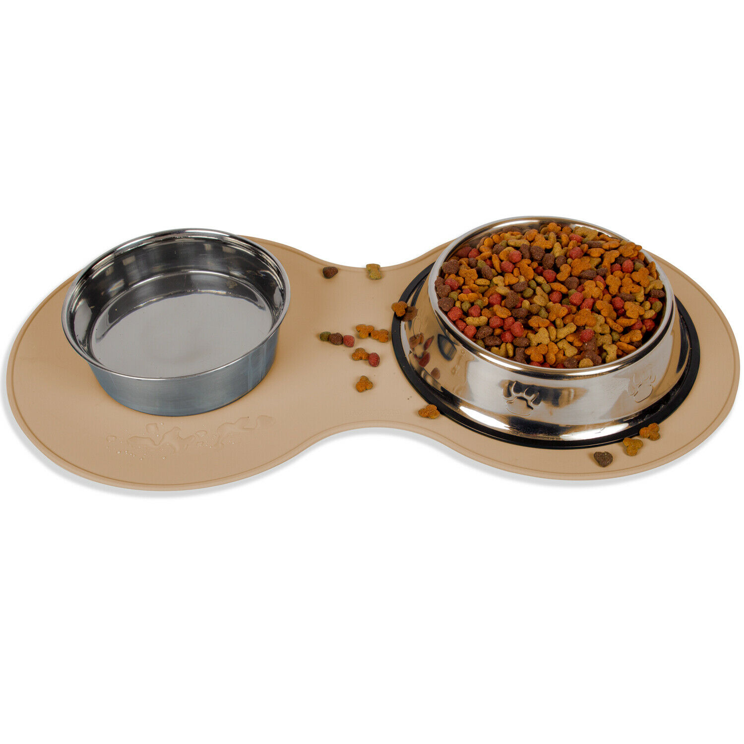 Pet Food Mat for Dog Cat Silicon Waterproof Placemat Dish Bowl Clean Feeding- LG