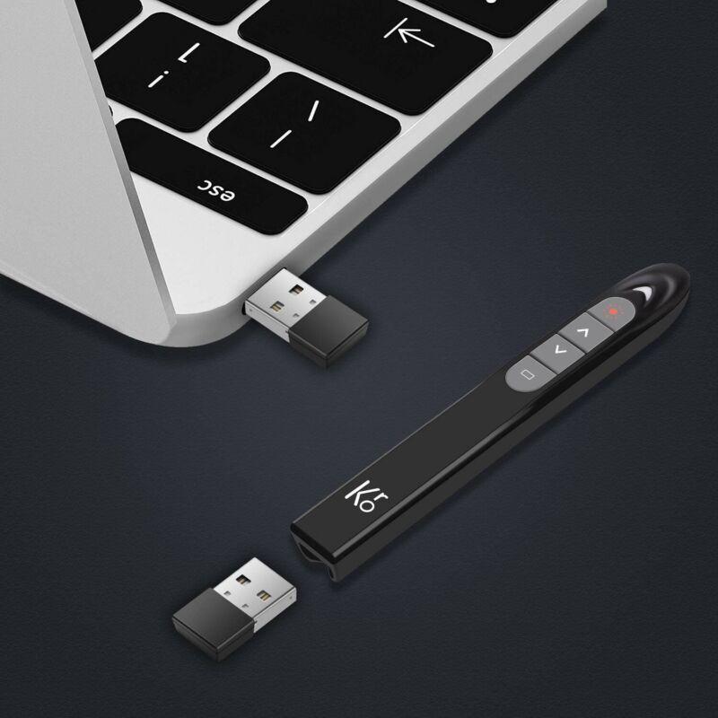 Kronium 2.4GHz Wireless Presenter Remote Presentation USB Control PowerPoint PPT