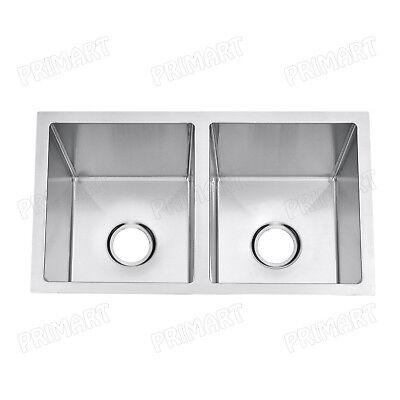 Primart 27X16 Inch 18 Gauge Double Bowls Undermount Stainless Steel Kitchen sink