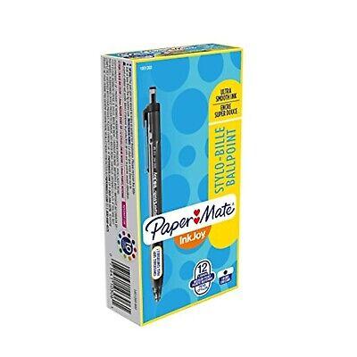 Paper Mate Inkjoy 300rt Retractable Ballpoint Pensmedium Pointblackbox Of 12
