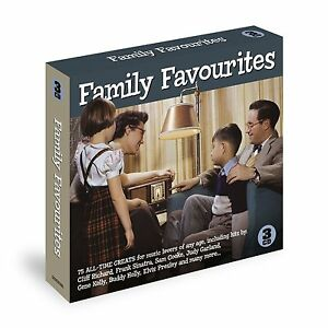 FAMILY FAVOURITES 75  EASY LISTENING + POP HITS FOR MUSIC LOVERS NEW 3 CD SET