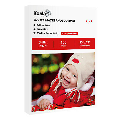 Koala 100 Sheets 13x19 Premium Matte Inkjet Printer Photo Paper Epson HP A3+