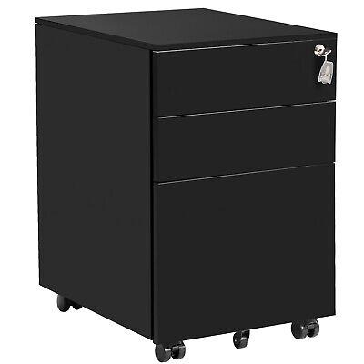 Metal 3 Drawer File Cabinet Mobile Metal Lockable Filing Cabinet Under Desk