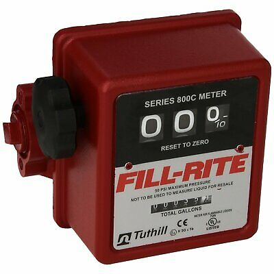 Fill-rite 807c 5 - 20 Gpm 34-inch Npt Thread Nonresettable Totalizer Meter