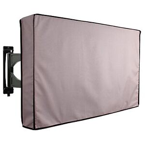 Outdoor TV Cover Grey Hard Weatherproof Protector For New