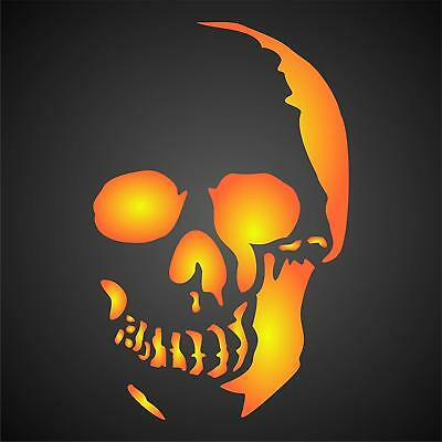 Halloween Skull Stencil Reusable Wall Painting Project Floors Fabrics Glass Wood - Halloween Painting Projects
