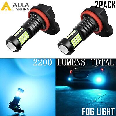 Alla Lighting 2200lm H11 36-LED Fog Light Driving Bulbs Lamps Ice Blue 8000K