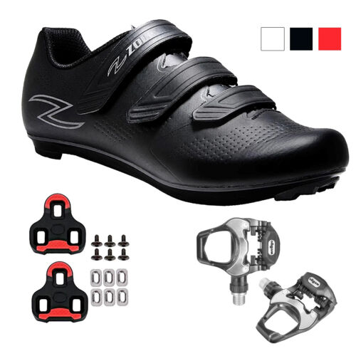 Zol Fondo Road Cycling Shoes with Pedals and Cleats