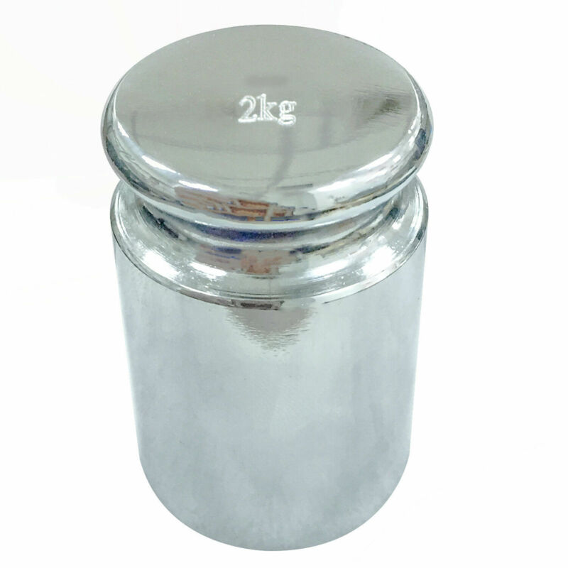 HFS(R) 2KGWGT Carbon Steel 2000gm Calibration Weight Scale With Chrome Finish