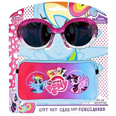 MY LITTLE PONY HASBRO Girls 100% UV Shatter Resistant Sunglasses & Soft Case Set](My Little Pony Sunglasses)