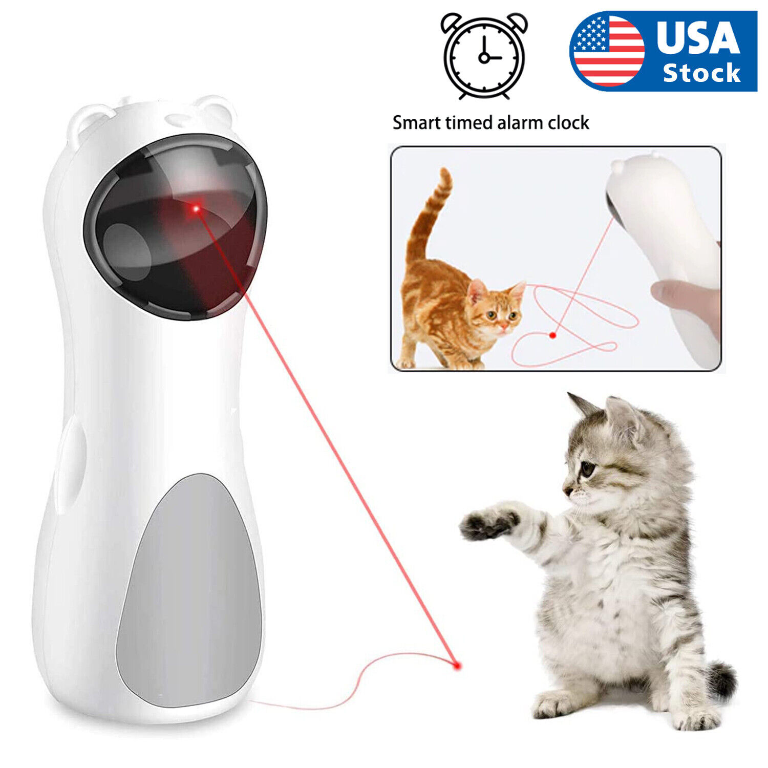 Automatic Cat LED Laser Toys Interactive Smart Teasing Kitten Funny Handheld Toy Cat Supplies