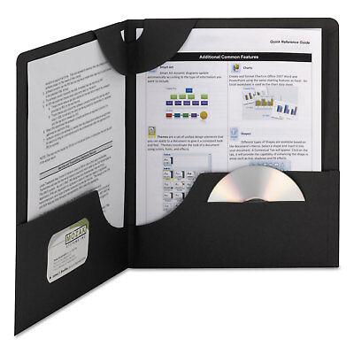 Smead Lockit Two-pocket Folder Textured Paper 11 X 8 12 Black 25box 87981
