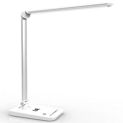 8W Touch Sensor 60 LED Light Dimmable Desk Table Reading Book Lamp 500lm + Power