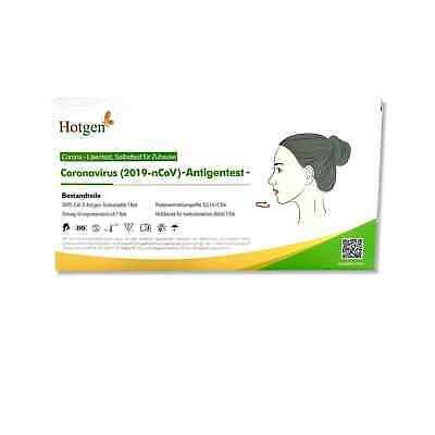 10x Hotgen Corona Schnelltest Antigen Nasal 2 cm Stäbchen - Laientest
